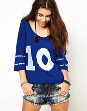 Free People  Recyceltes Jersey-T-Shirt im College-Look