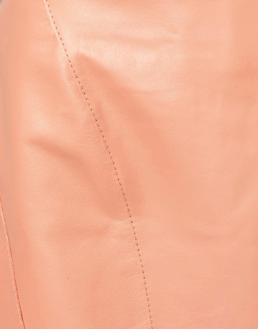 Image 3 ofASOS Leather Pelmet Mini Skirt