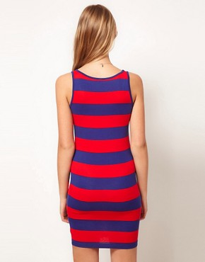 Image 2 ofASOS Mini Bodycon Dress In Wide Stripe