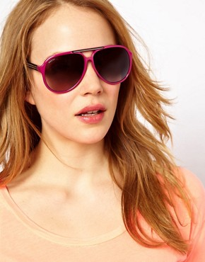 Image 3 ofGucci Pink Slim Aviator Sunglasses