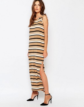 Sisley Sleeveless Jersey Stripe Dress