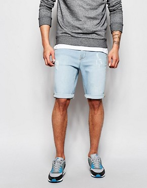Hoxton Denim Shorts Bleach Denim