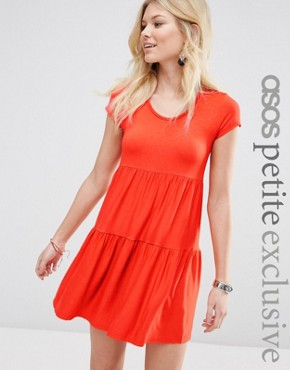 ASOS PETITE Simple Tiered Smock Dress