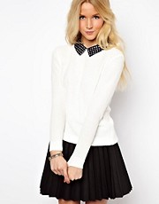 ASOS Spot Collar Jumper