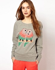 French Connection Sequin Bird Sweat Top