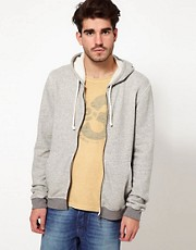 Nudie Zipthru Hoodie Melange