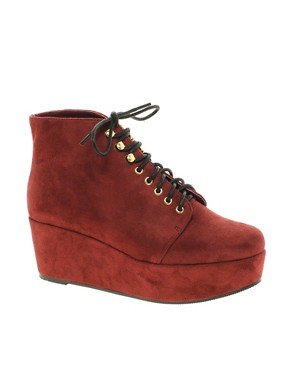 Image 1 ofASOS VINCENT Flatform Ankle Boots