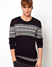Suit Fairisle Stripe Jumper