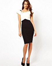 Hybrid Off Shoulder Dress with Collar Detail