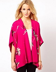 French Connection Anya Flower Waterfall Jacket