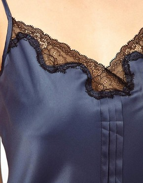 Image 3 ofCalvin Klein Chemise With Lace Trim