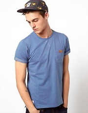 Native Youth T-Shirt With Polka Dot Pintuck