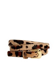 Warehouse Skinny Animal Print Belt