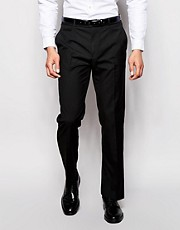 ASOS Straight Fit Black Smart Trousers