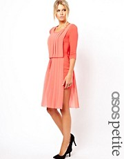 ASOS PETITE Exclusive Mini Dress With Chiffon Overlay