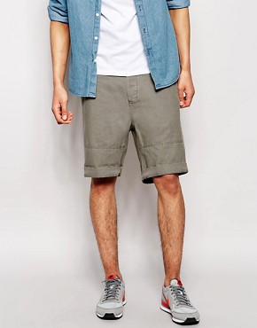 ASOS Linen Shorts In Slim Fit Mid Length