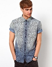 River Island Short Sleeve Shirt in Leopard Print