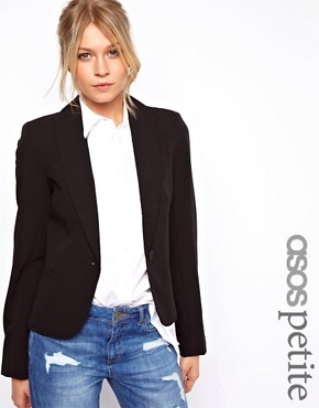 Image 1 ofASOS PETITE Cropped Tailored Blazer