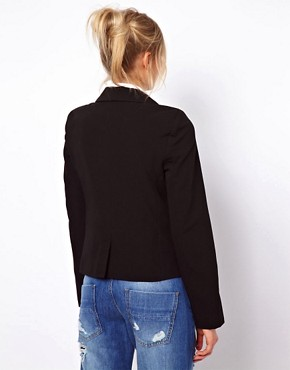 Image 2 ofASOS PETITE Cropped Tailored Blazer