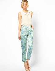 ASOS Trousers in Statement Floral Jacquard