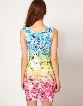 Image 2 ofLipsy Gradient Flower Print Dress