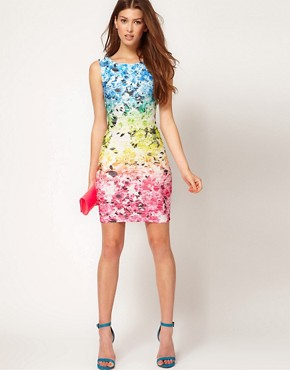 Image 4 ofLipsy Gradient Flower Print Dress