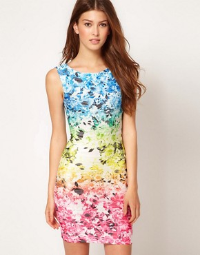 Image 1 ofLipsy Gradient Flower Print Dress