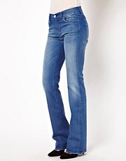 7 For all Mankind – Bootcut-Jeans mit hohem Bund