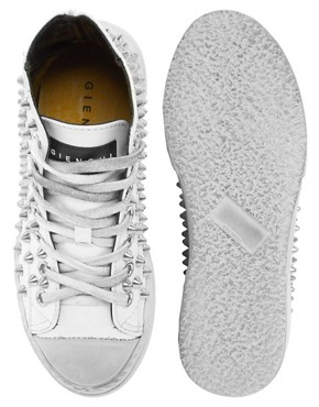 Image 3 ofGienchi White High Top Trainers