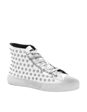 Image 1 ofGienchi White High Top Trainers