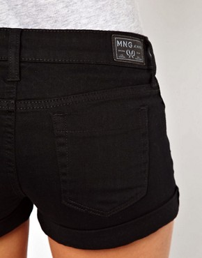 Image 3 ofMango Black Denim Short