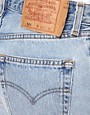 Image 3 ofReclaimed Vintage Levi&#39;s Shorts With High Waist In Light Stonewash