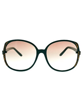 Image 2 ofASOS Oversized 70s Sunglasses With Corner Detail