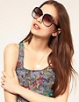 Image 3 ofASOS Oversized 70s Sunglasses With Corner Detail