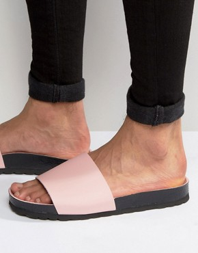 ASOS Slider Sandals In Pink