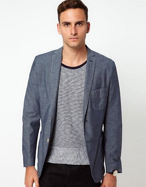 Image 1 ofJ Lindeberg Jacket Slim Chambray