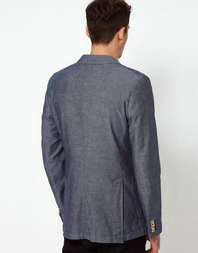 Image 2 ofJ Lindeberg Jacket Slim Chambray
