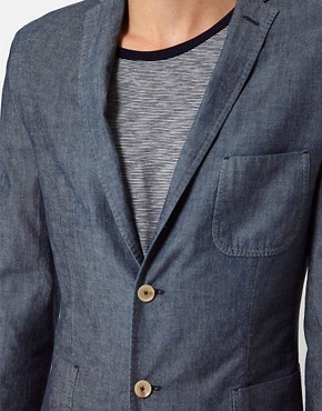 Image 3 ofJ Lindeberg Jacket Slim Chambray
