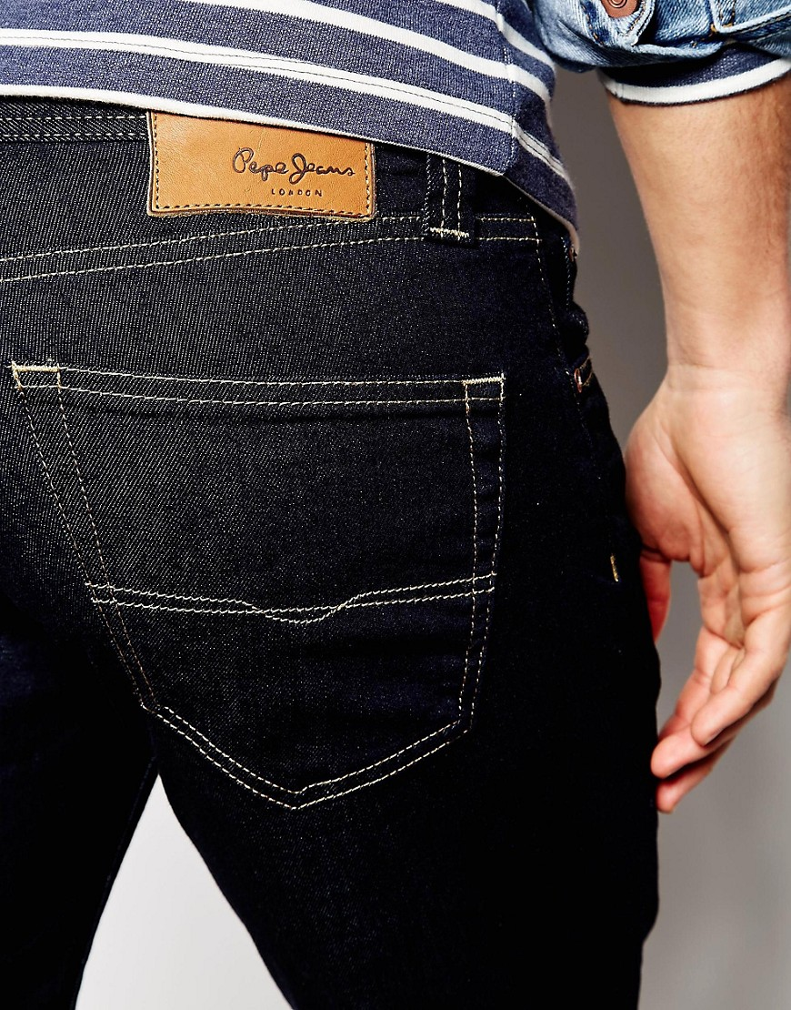 Image 3 of Pepe Jeans Cane Slim Fit Raw Wash