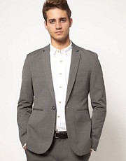 ASOS Slim Fit Suit Jacket in Grey