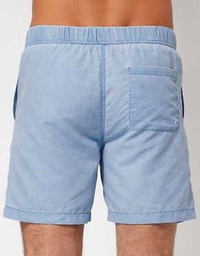 Image 2 ofASOS Swim Shorts With Acid Wash