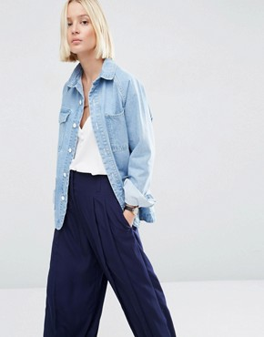 ASOS WHITE Carpenter Denim Jacket