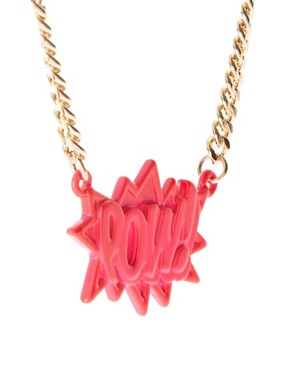 Image 4 ofASOS POW Pendant Necklace