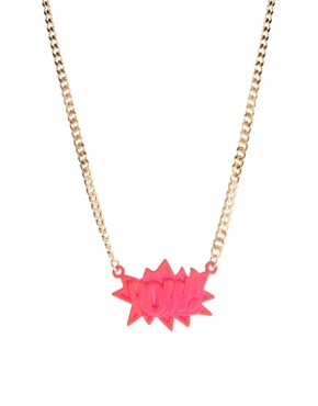 Image 1 ofASOS POW Pendant Necklace