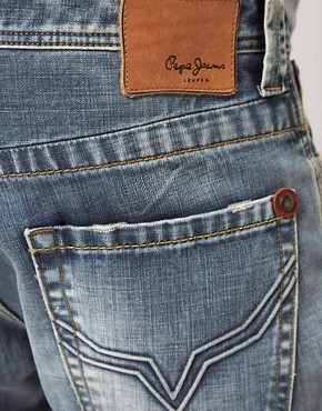 Image 4 ofPepe Kingston Jeans Regular Fit Light Wash