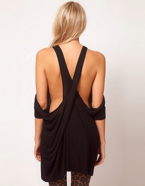 Image 2 ofASOS Top with Extreme Cold Shoulder and Wrap Back