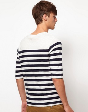 Image 2 ofASOS Stripe 3/4 Sleeve T-Shirt
