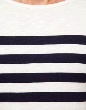 Image 3 ofASOS Stripe 3/4 Sleeve T-Shirt