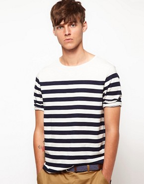 Image 1 ofASOS Stripe 3/4 Sleeve T-Shirt
