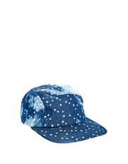 ASOS 5 Panel Cap with Bleach Denim